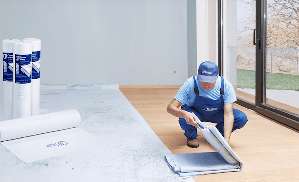 Multi-layered floor protection cover