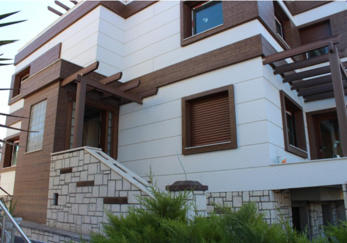 Betopan Cladding - Wood Texture - Painted