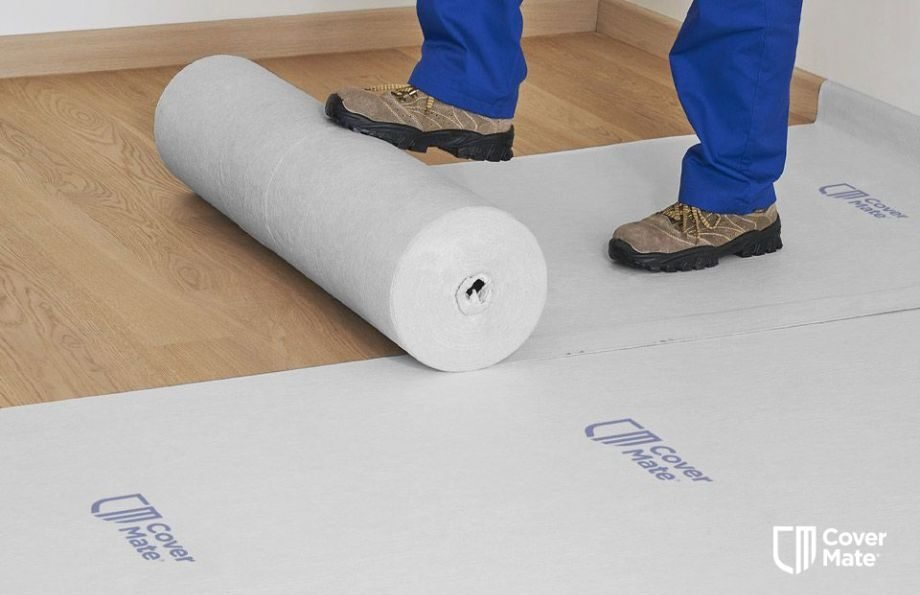 Temporary floor protection mat