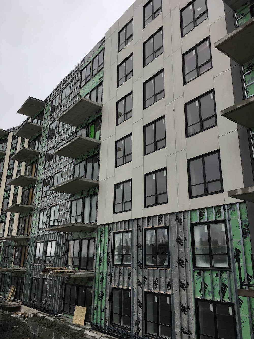 Fiber cement cladding - through coloured - exterior- Wentworth Drive, Halifax
